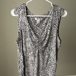 Motherhood Tank Top Cheetah Print